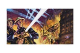 London During the Blitz Giclee Print by Harry Green