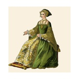 Queen Jane Seymour Giclee Print by Albert Kretschmer