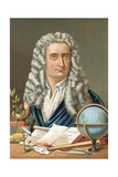 Isaac Newton Giclee Print by Jose Armet Portanell