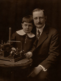 Father and Son with a Steam Machine, 1900 Photographic Print by  French Photographer