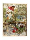 Robin Hood and Little John Giclee Print by Walter Crane