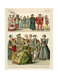 English Costume 1500-1550 Giclee Print by Albert Kretschmer