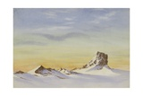 Looking N.W. Castle Rock Below Mount Erebus, 2pm, 3 August, 1903 Giclee Print by Edward Adrian Wilson