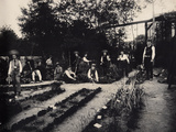 Pupils at a Gardening School, 1900 Photographic Print by  French Photographer