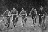 Royal Cyclists at the Start of a Race at Fredensborg, Denmark, 1900 Photographic Print