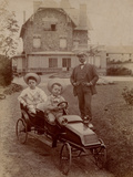 Children in a Pedal Car, 1905 Photographic Print by  French Photographer