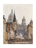 St. Paul's Cathedral, from Ludgate Circus Giclee Print by John Fulleylove