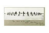 Guns Drawn Up for Inspection on the Beach, Khan Yunis, September 1917 Giclee Print by Capt. Arthur Rhodes
