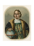 Christopher Columbus with Globe Giclee Print by Ramon Puiggari