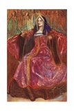 A Woman of the Time of Henry VII 1485-1509 Giclee Print by Dion Clayton Calthrop