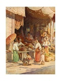 In a Burmese Bazar Giclee Print by Robert George Talbot Kelly