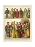 Italian Costume 1500 Giclee Print by Albert Kretschmer