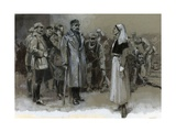 Edith Cavell Being Arrested Giclee Print by Neville Dear