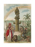 Frontispiece to Book on Columbus Giclee Print by Ramon Puiggari
