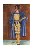 A Man of the Time of Henry VIII 1509-1547 Giclee Print by Dion Clayton Calthrop