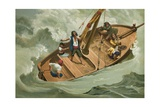 Leibniz in a Boat on the Adriatic Giclee Print by Josep or Jose Planella Coromina