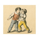 Boys Fighting Giclee Print by  English School