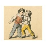 Boys Fighting Giclee Print by  English School