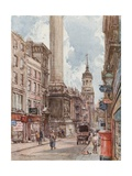 The Monument and St. Magnus' Church, E.C. Giclee Print by John Fulleylove