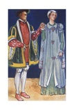 A Man and Woman of the Time of Edward VI 1547-1553 Giclee Print by Dion Clayton Calthrop