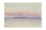 Western Range, 24 April, Noon, the Day after the Sun Disappeared, 1903 Giclee Print by Edward Adrian Wilson