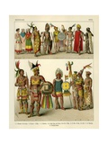 Mexican Costume 1500 Giclee Print by Albert Kretschmer