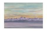 Looking West, McMurdo Strait, 2pm, 16 August, 1903 Giclee Print by Edward Adrian Wilson