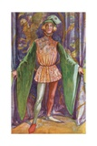 A Man of the Time of Henry V 1413-1422 Giclee Print by Dion Clayton Calthrop