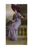 Study in Purple: Portrait of Gertrude McFarland, 1912 Giclee Print by Theodore Wores