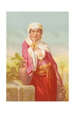 The Woman of Samaria Giclee Print by Horace Vernet