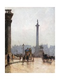 Nelson's Column, and Portico of St Martin's-In-The-Fields Giclee Print by Rose Maynard Barton