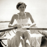 Eva Braun on a Row Boat on the Woerthersee, 1937 Photographic Print by  German photographer