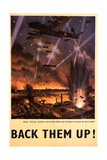 'Back Them Up' Poster, c.1942 Giclee Print by  English School