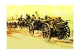 Belgian Retreat in 1940 Giclee Print by Gerry Wood