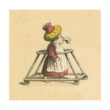 Baby in a Stroller Giclee Print by  English School