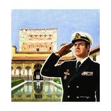 King Juan Carlos of Spain Giclee Print by David Nicolle