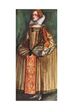A Woman of the Time of Elizabeth 1558-1603 Giclee Print by Dion Clayton Calthrop