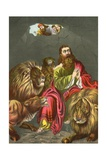 Daniel in the Lions' Den Giclee Print by  North American
