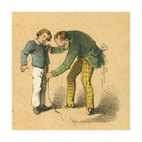 Boy Being Measured by His Tailor Giclee Print by  English School