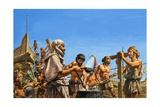 Construction of the Athenian Navy Giclee Print by Roger Payne