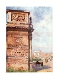 Arch of Titus from the Arch of Constantine Giclee Print by Alberto Pisa