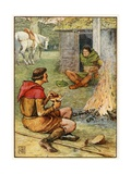 Little John and the Forester Giclee Print by Walter Crane