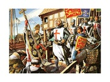 Richard the Lionheart and His Knights Leave for the First Crusade Giclee Print by Michael Godfrey