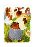 "Merry Guinea Pigs, 1913 Giclee Print by M.T. ""Penny"" Ross"