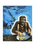 Panning for Gold During the Klondike Gold Rush Giclee Print by Graham Coton