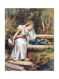 'Do Not Cry, Dear Princess,' Said the Frog. 'I Can Recover Your Ball for You' Giclee Print by William Henry Margetson