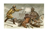 The Wolf - 'The Noble Sacrifice' Giclee Print by Johann Baptist Zwecker