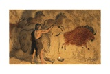 Cave Painters Giclee Print by Ronald Lampitt