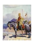 King Edward Giclée-tryk af Newell Convers Wyeth