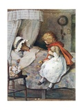 'What Big Eyes You Have, Grandmother!' Said She Giclee Print by William Henry Margetson